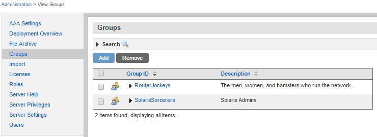 Uplogix Control Center - Groups