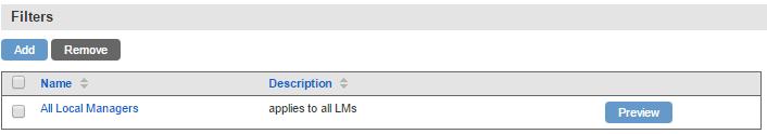 Uplogix Control Center - Schedule Filters
