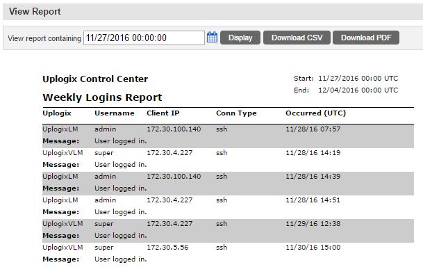 Uplogix Control Center - View Report
