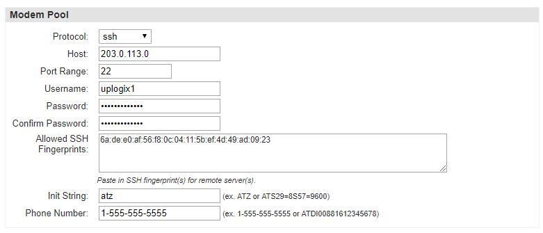 Uplogix Control Center - SSH Applet Button