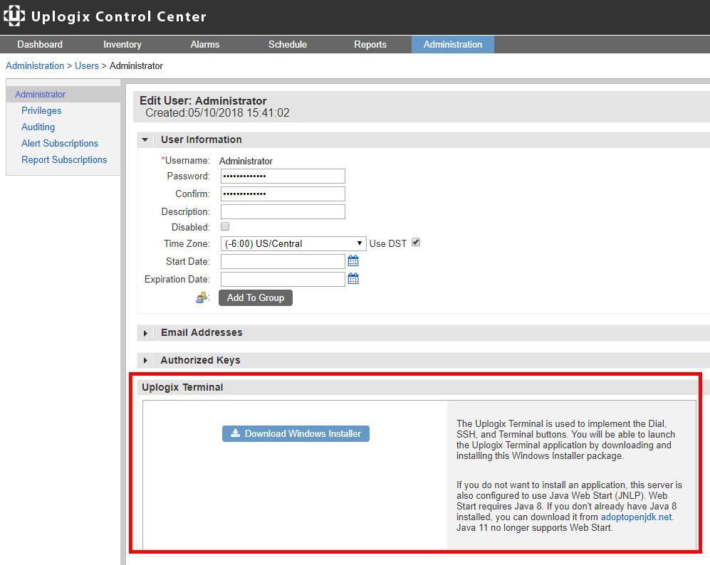 Uplogix Control Center - Terminal App Download