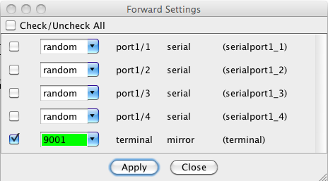 Forward Settings