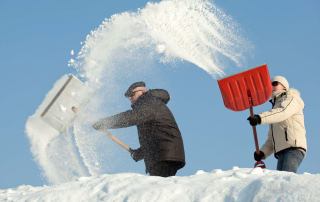 when you have secure remote access, shoveling snow can be fun