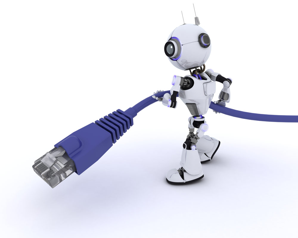 Robots dragging cables are probably still pretty far off, but network automation is here today.