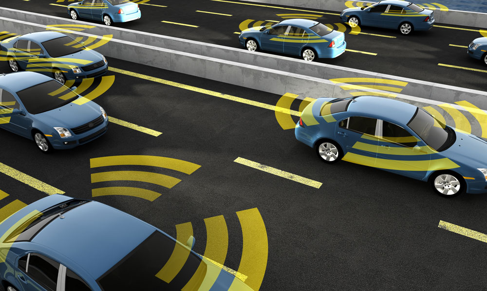 Autonomous cars connecting to traffic lights is similar to local management of network infrastructure.