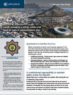 South African Police Service uses Uplogix in their first responder communications network