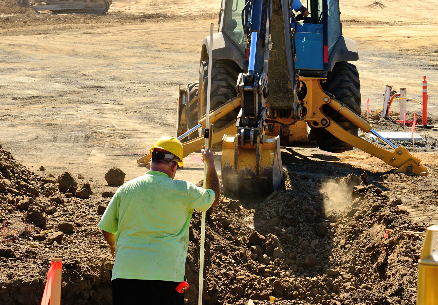 Troubleshooting a backhoe incident