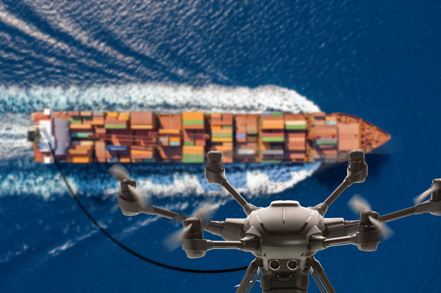 Tethered drones could expanding shipping horizons
